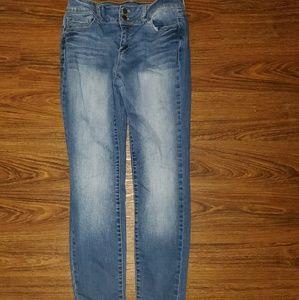 Fashion Nova Wax Jeans Sz 11 Stretch Skinny Jeans